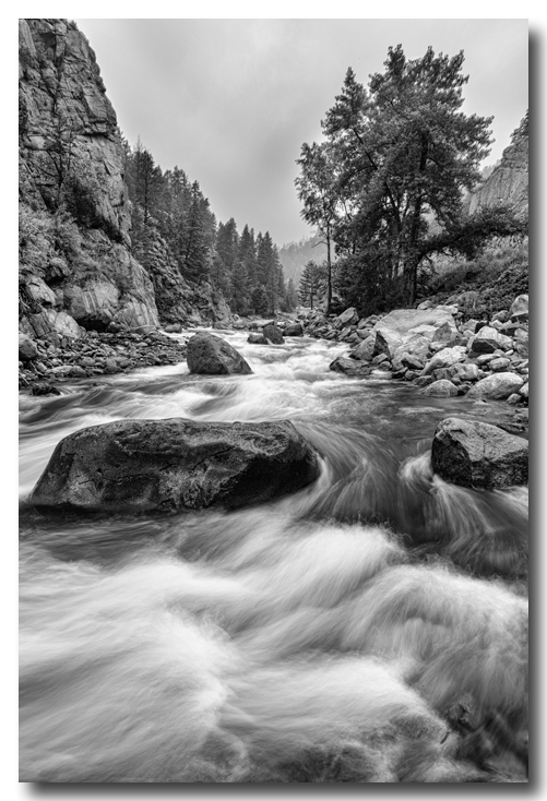 Colorado black and white canyon portrait colorado canvas art