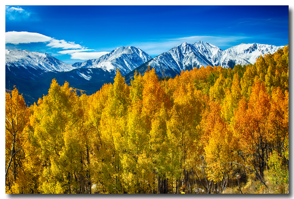 Rocky Mountain High Autumn View Canvas Wall Art Print